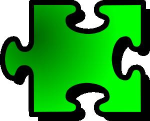 free vector Jigsaw Green clip art