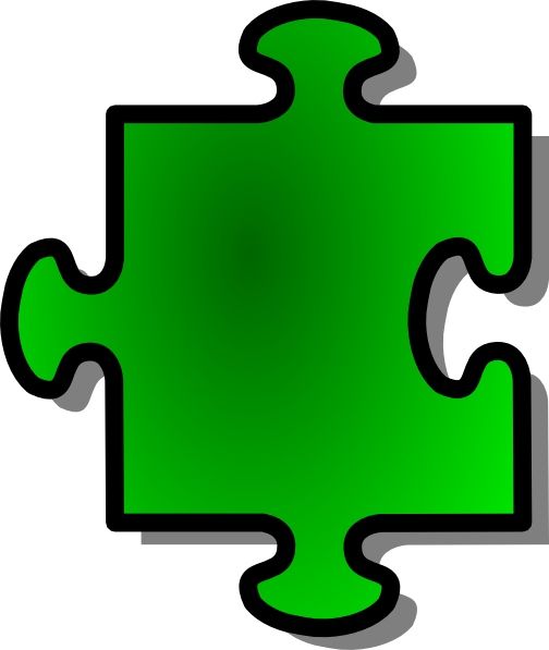 free vector Jigsaw Green clip art