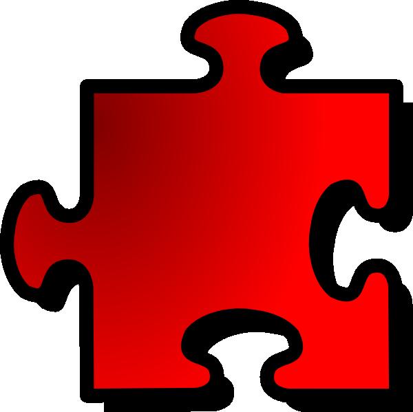 free vector Jigsaw Red Piece clip art