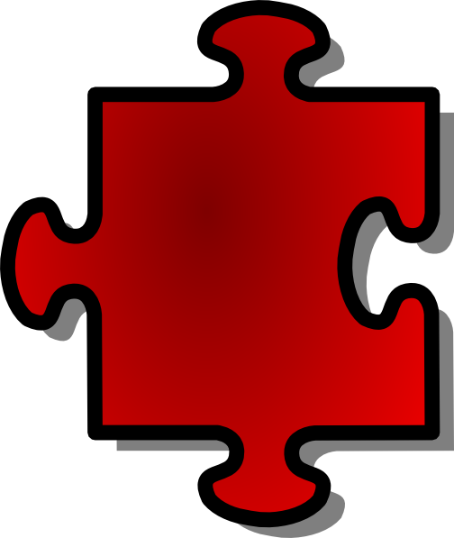 Jigsaw Red Puzzle Piece clip art Free Vector / 4Vector