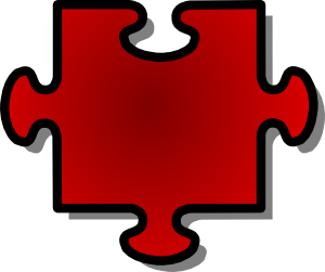 free vector Jigsaw Red Puzzle Piece clip art