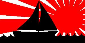 free vector Joe M Sailboat Under Red Sun clip art