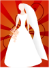 free vector Joelm Red Bride With Sunburst clip art