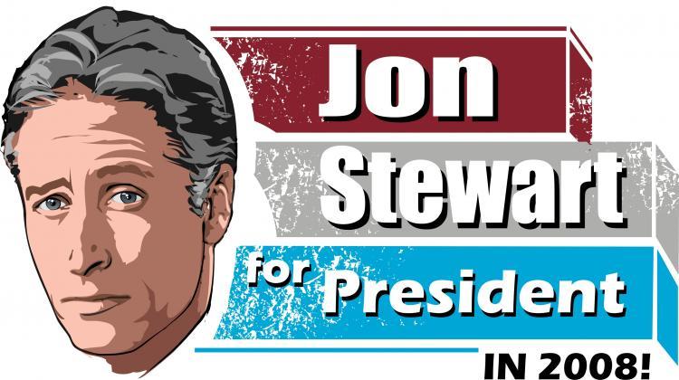 free vector Jon Stewart for President!