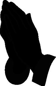 free vector Jonadab Praying Hands Silhouette clip art