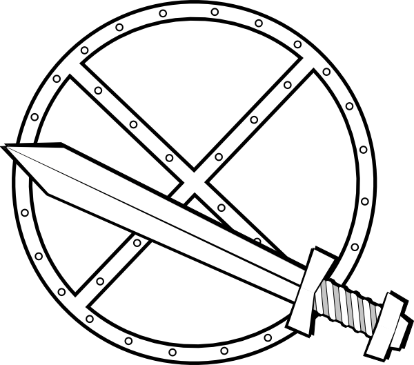free vector Jonadab Round Sword And Shield clip art