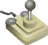 free vector Joystick Beige Gray clip art