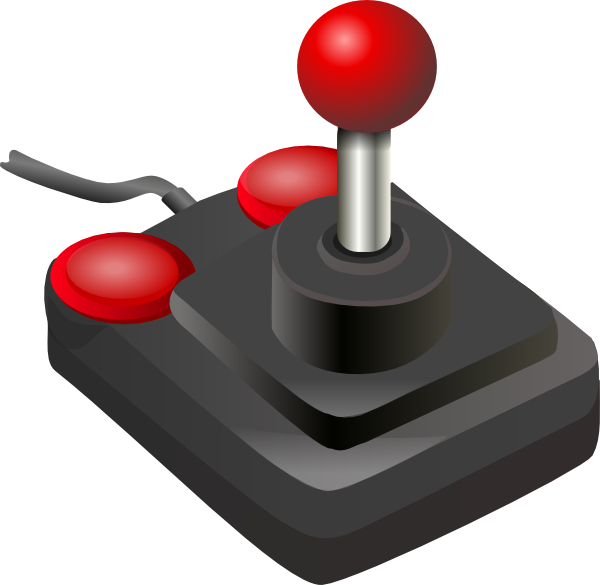free vector Joystick Black Red clip art