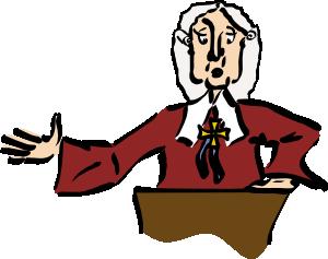 free vector Judge  clip art