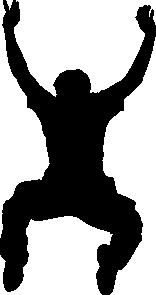 free vector Jumper Silhouette clip art
