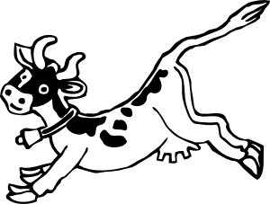 free vector Jumping Cow clip art