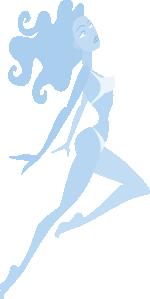 free vector Jumping Girl clip art