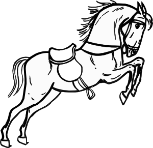 Jumping Horse Outline clip art Free Vector / 4Vector