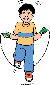 free vector Jumping Rope clip art