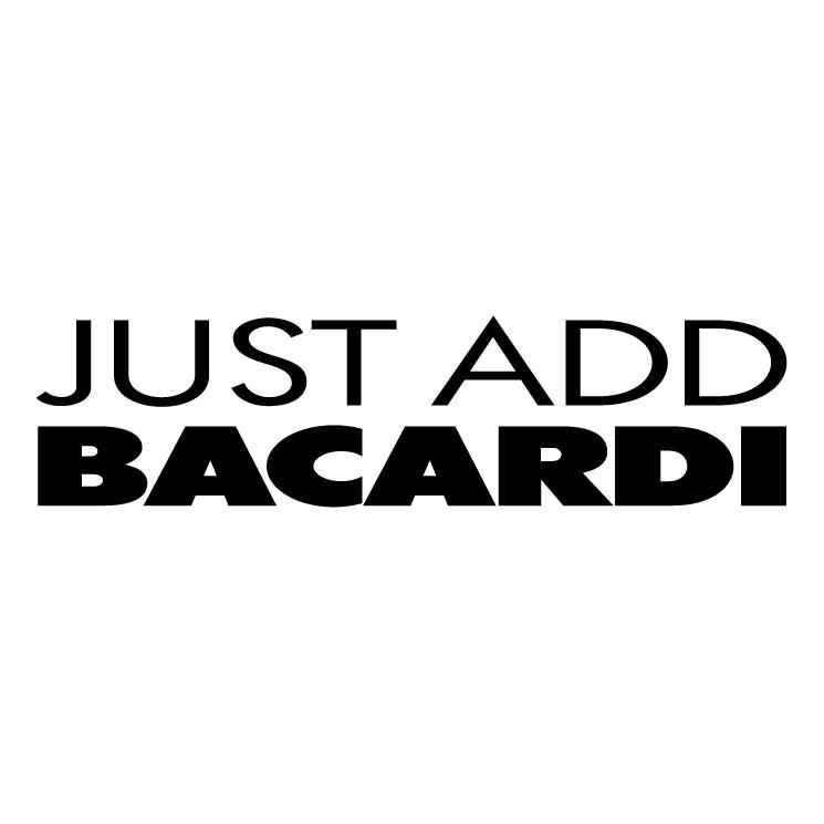 free vector Just add bacardi