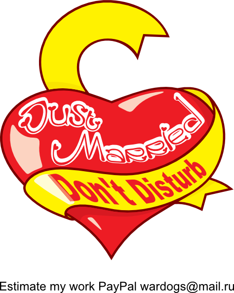 free vector Just Married Dont Distrub clip art