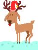 free vector Kablam A Cartoon Reindeer clip art