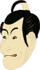 free vector Kabuki Actor clip art