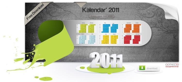 free vector Kalendar2011