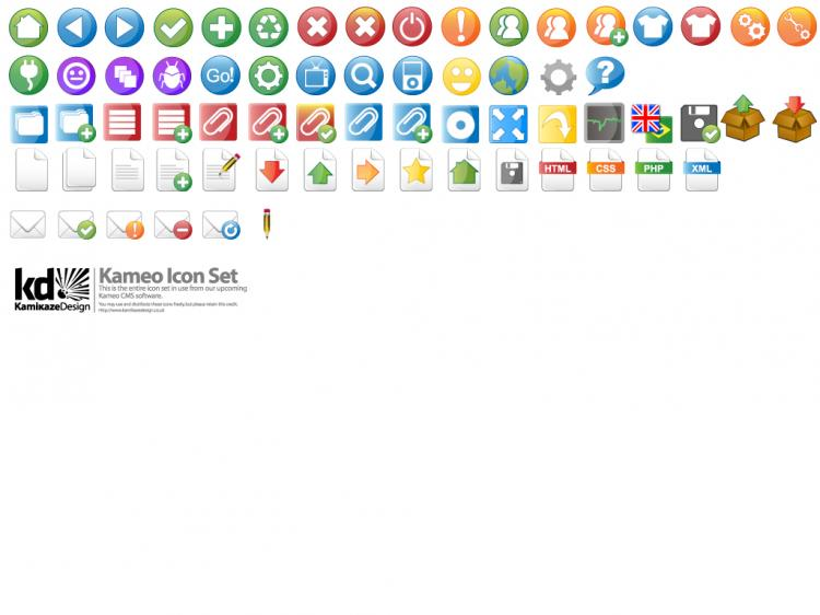 free vector Kameo commonly used web design icons