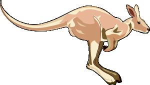 free vector Kangaroo clip art