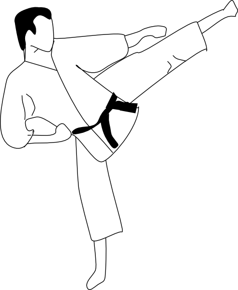 free vector Karate Kick clip art