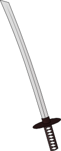 free vector Katana Sword Weapon clip art