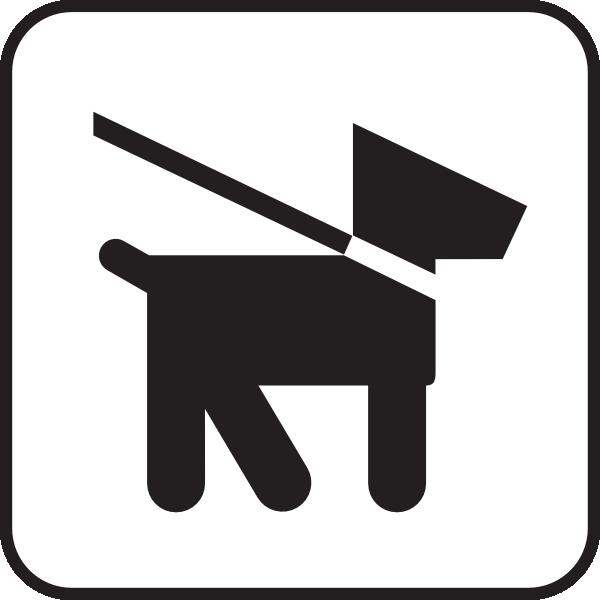 free vector Keep Dogs On Leash clip art
