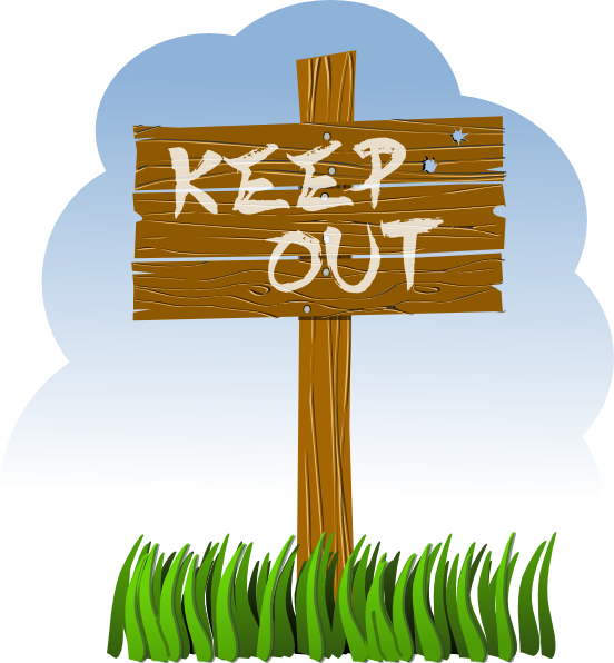 free vector Keep Out clip art
