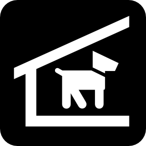 free vector Kennel Dogs clip art