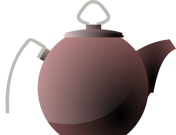 Kettle Or Tea Pot clip art Free Vector / 4Vector