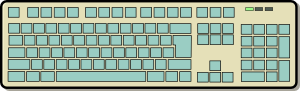 free vector Keyboard clip art 116691