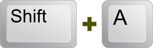 free vector Keyboard Key Shift A clip art