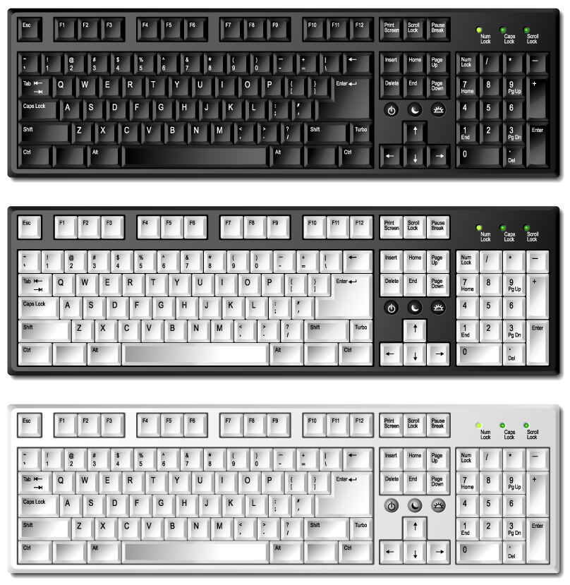 free vector Keyboard template 01 vector