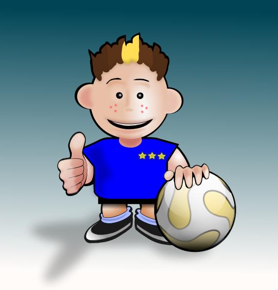 free vector Kid Soccer clip art