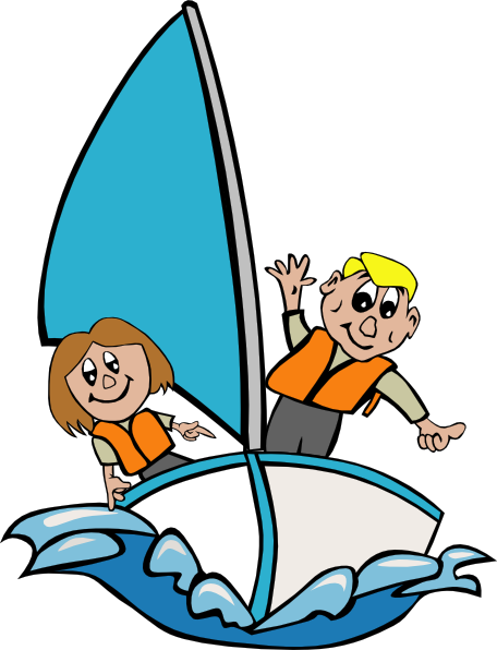 free vector Kids Sailing clip art