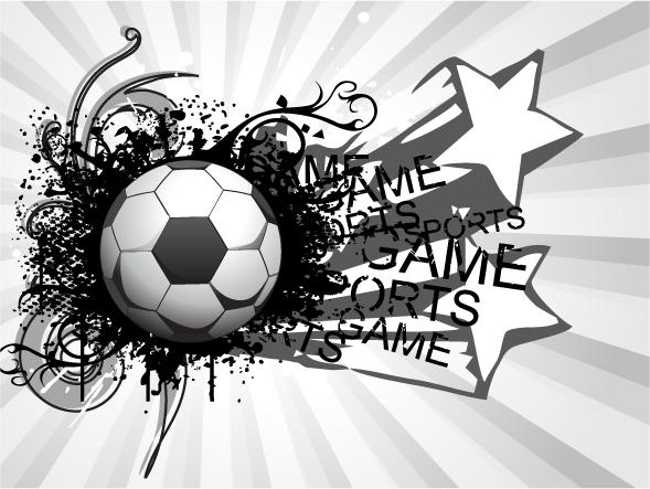 free vector King football theme vector