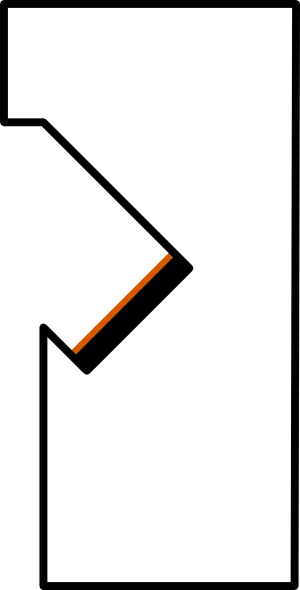 free vector Kit Right Arm Blackbrown Border clip art