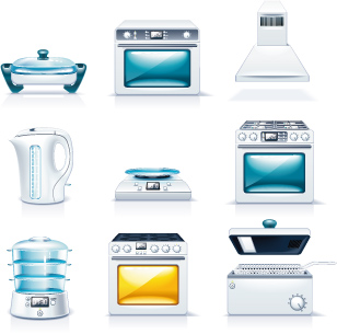 free vector Kitchen appliances u0026amp office icon vector