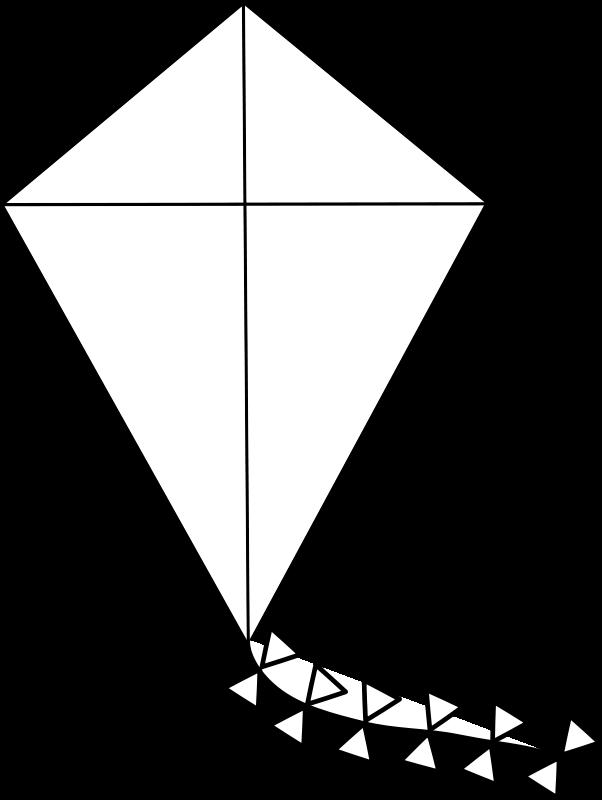 free vector Kite Line Art