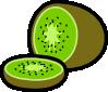 free vector Kiwi And Kiwi Wedge clip art