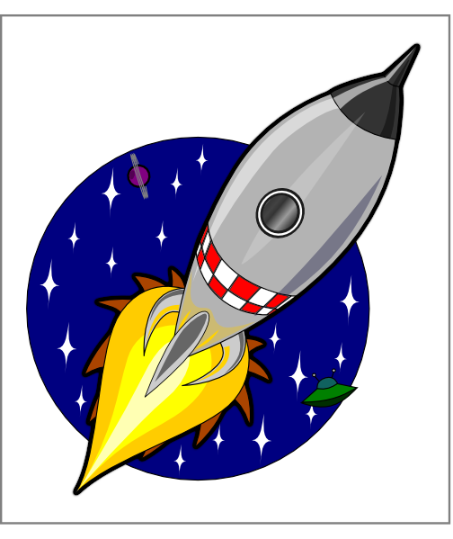 free vector Kliponius Cartoon Rocket clip art