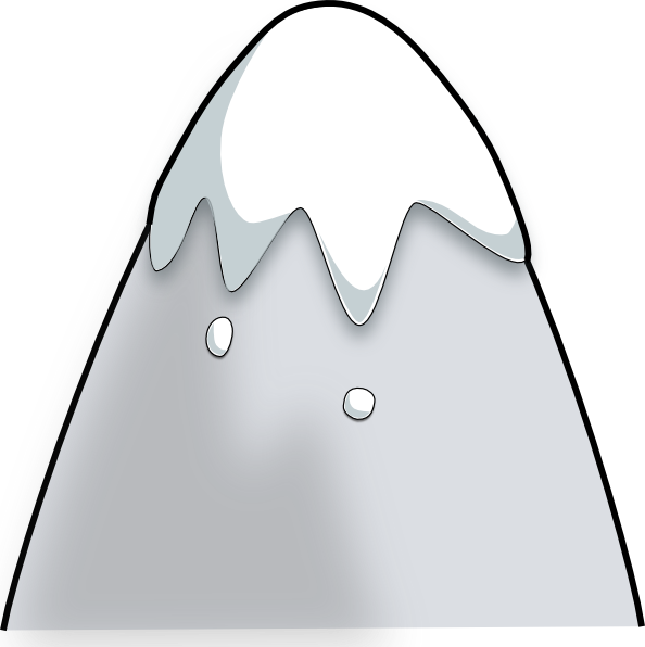 free vector Kliponius Mountain In A Cartoon Style clip art