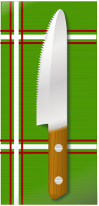 free vector Knife On Table clip art