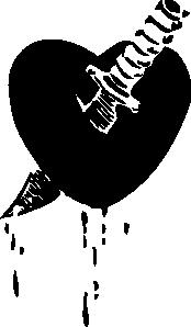 free vector Knife Through The Heart clip art