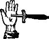 free vector Knife Trick clip art