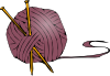 free vector Knitting Yarn Needles clip art