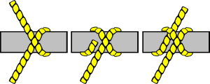 free vector Knot Illustration (clove Hitch) clip art