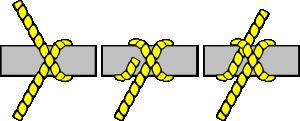 free vector Knot Illustration (clove Hitch) clip art