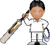 free vector Kobo Cricket Toon clip art